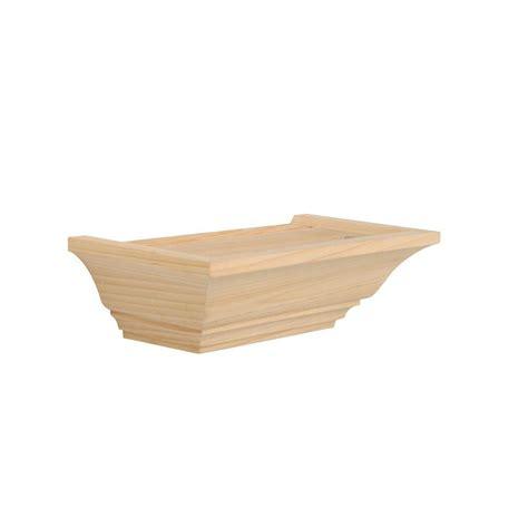 Wood Shelf Kits Unfinished by Knape Vogt 5 In X 10 In Floating Unfinished Mantel