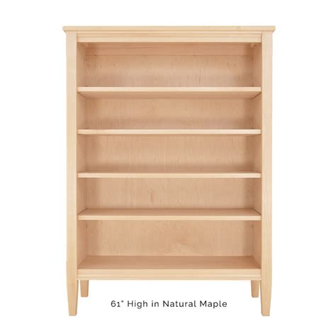 shaker style wooden bookcase real cherry walnut