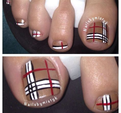tutorial nail art burberry burberry nails winter nails and burberry on pinterest