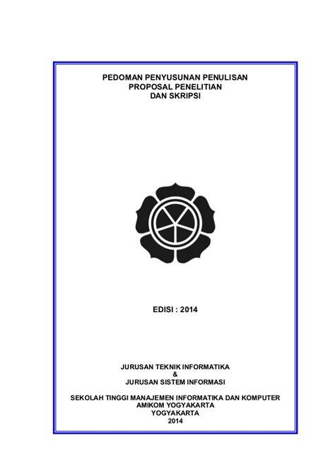 format proposal judul skripsi pedoman penyusunan penulisan proposal penelitian dan skripsi