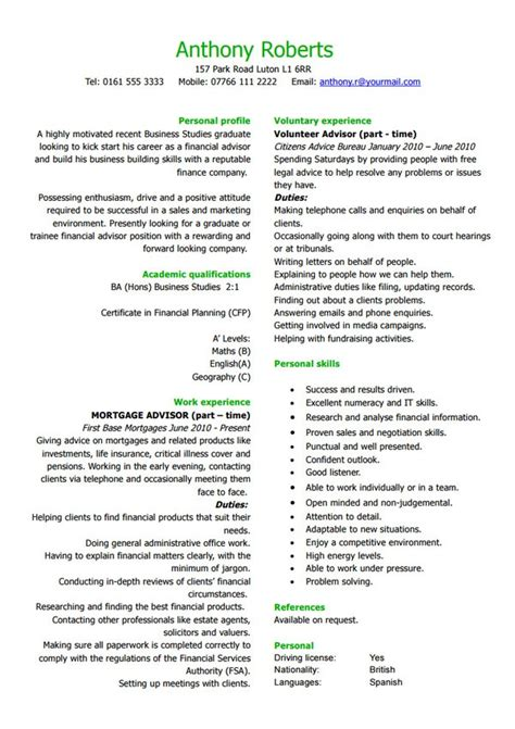 18 Best Banking Sle Resume Templates Wisestep Financial Advisor Resume Template