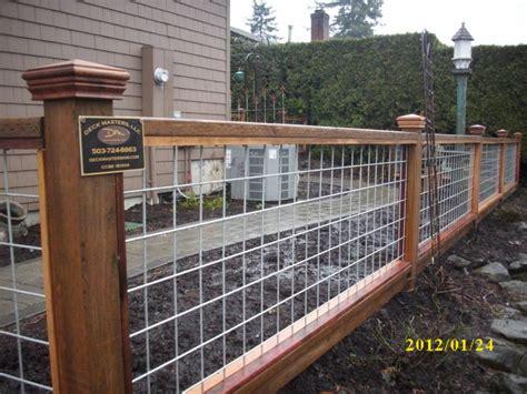 Hog Panel Deck Railing by Hog Panel Fence Deck Masters Llc Portland Or