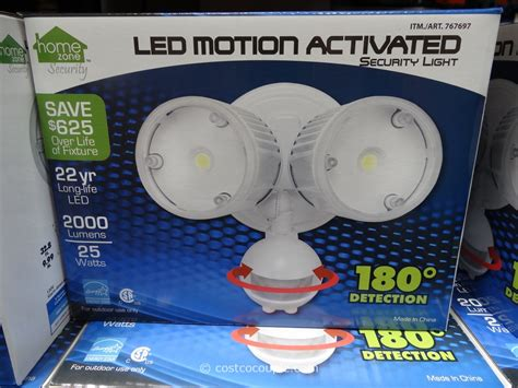 led motion sensor light costco led motion activated security light