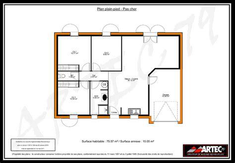 Plan Pavillon 100m2 by Plans De Maisons Constructeur Deux S 232 Vres