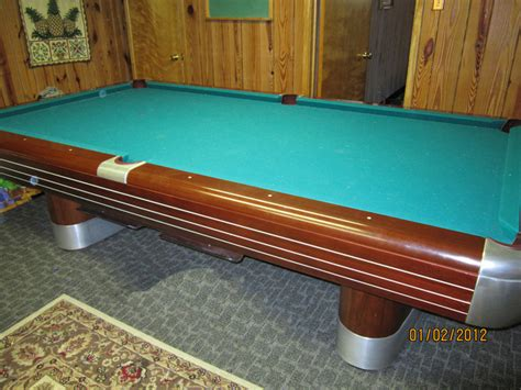 9 foot brunswick anniversary pool table for sale