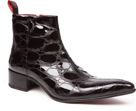 west boots jeffery west romano snakeskineffect boots in black for