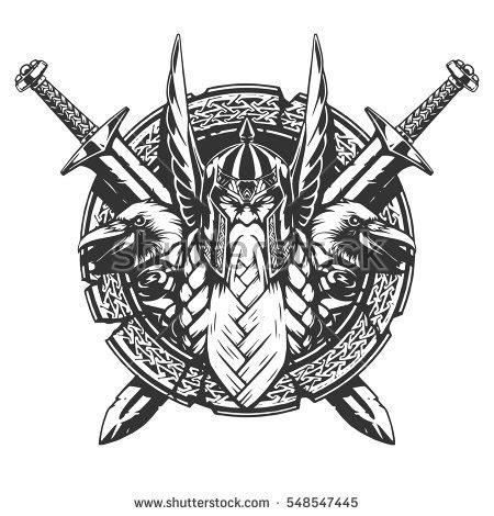 drake coat ragnarok viking tattoo stock images royalty free images vectors