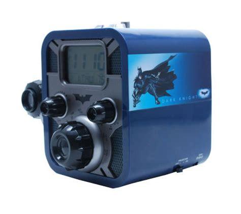 digital blue batman alarm clock radio w bat sigal projection qvc