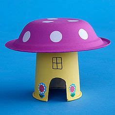 buying a house for parents to live in instead of buying another dollhouse paint a paper cup and bowl to make a mushroom