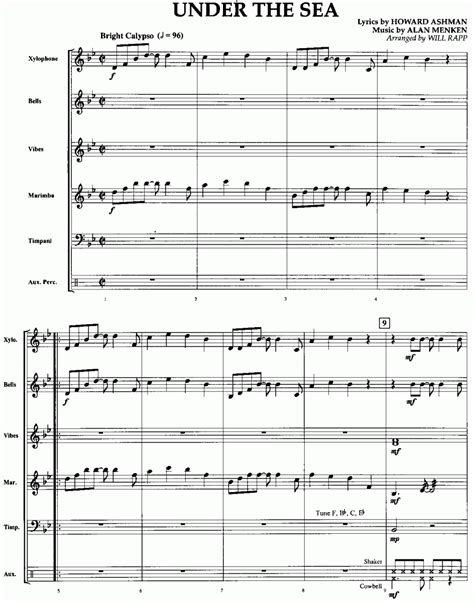 piano tutorial under the sea musicainfo net dettagli under the sea 8545005