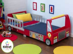 charming Decorations For Little Girls Room #7: fabulous-toddler-bed-for-bed-with-firefighter-car-shape-idea-feat-cute-round-rug-also-brick-bedroom-wall-design.jpg