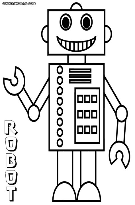 Robot Coloring Pages Coloring Pages To Download And Print Robot Colouring Pages