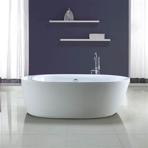 rona bathtubs quot leni quot freestanding bathtub rona