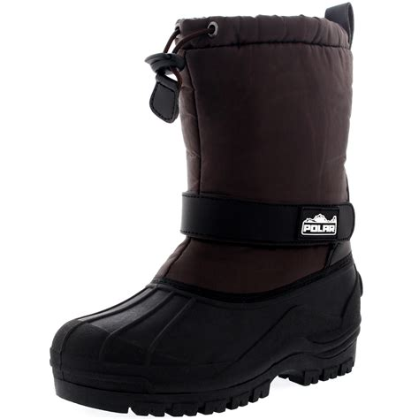 children s muck boots unisex pull on drawstring closure winter snow