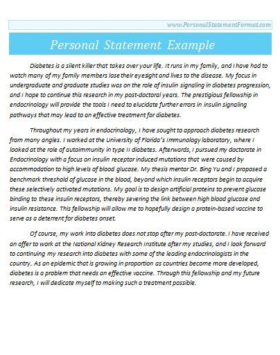 professional personal statement structure personal statement format