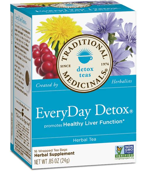 Herbal Tea For Detox by Everyday Detox 174 Traditional Medicinals