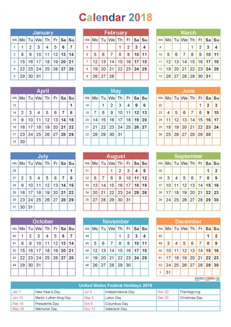 printable calendar without weekends new year 2018 calendar download new year 2018 printable