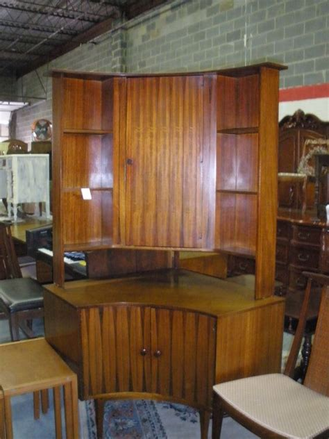 midcentury modern dining room hutch table and chairs