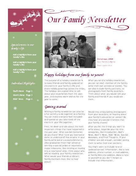 Best Photos Of Holiday Family Newsletter Template Christmas Newsletter Template Free Download Family Newsletter Template Microsoft Word
