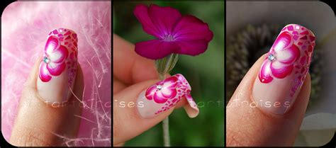 tutorial nail art one stroke the bloomin couch one stroke nail art