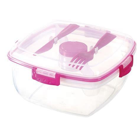 Plastic Lunch Box Set 4pc   Camping   B&M