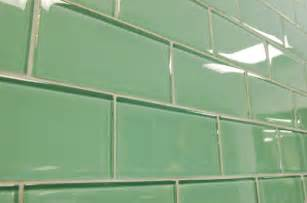 sage green subway glass tiles modern bathroom other