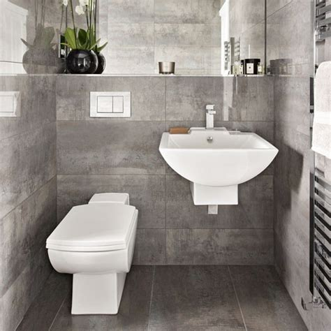 Bathroom Suites Ideas by A Grey Bathroom With A Floating Suite Bathroom Suites