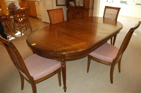 ethan allen dining room table with 4 chairs