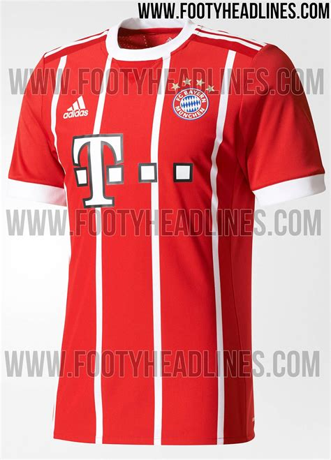 Jersey Bayern Munchen Home Go New Season 2017 18 Grade Ori bayern munich 17 18 home kit released footy headlines