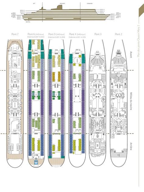 cunard cabin layout 2 deck plans