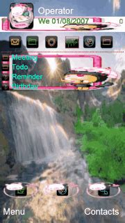 themes mobile waterfall download animated waterfall nokia theme mobile toones