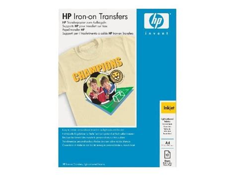 hp printer iron on transfer paper hp iron on transfers a4 12 sheets ebuyer