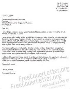vice president of sales cover letter sample