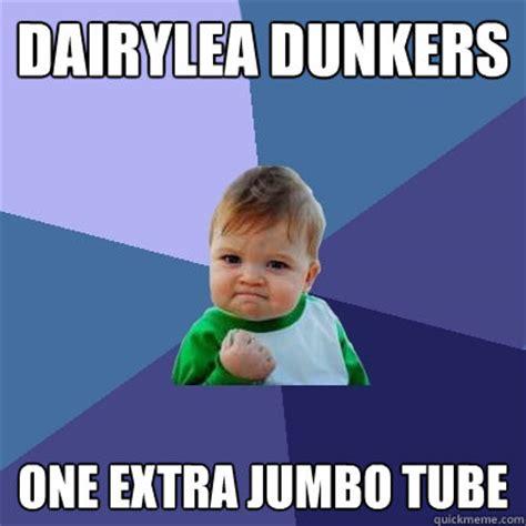 Tube Meme - dairylea dunkers one extra jumbo tube success kid