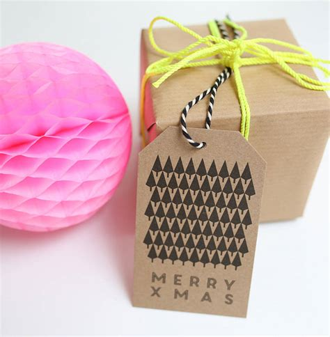 christmas tree charity gift tags special offer by lucy