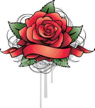 rose with banner tattoos designs with banner www pixshark
