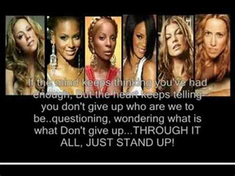 ( just stand up ) by various artists,,( lyrics ).beyonce