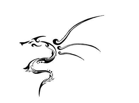 small tribal dragon tattoos small tribal design by tonfish