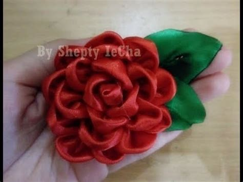 youtube membuat bunga mawar dari pita cara membuat bros mawar merah dari pita satin satin rose