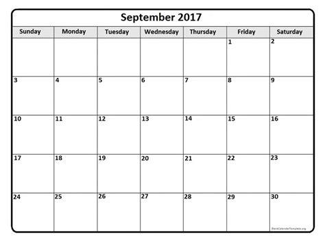 Calendar Printable 2017 September September 2017 Calendar September 2017 Calendar Printable