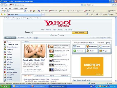 my yahoo my homepage images