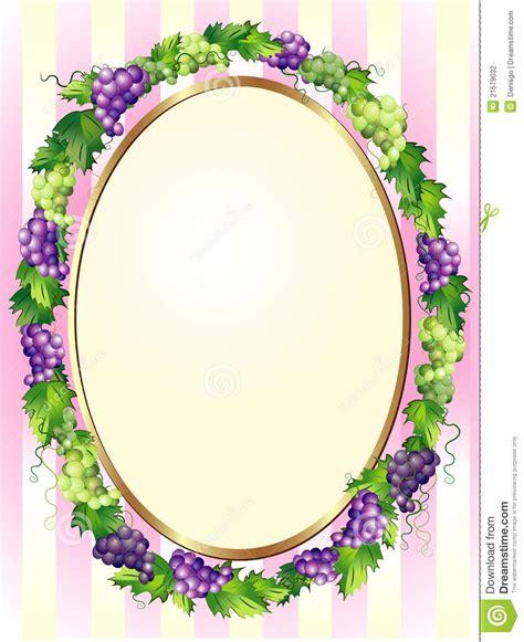 decorative oval border decorative oval grapes border stock photo image of plate