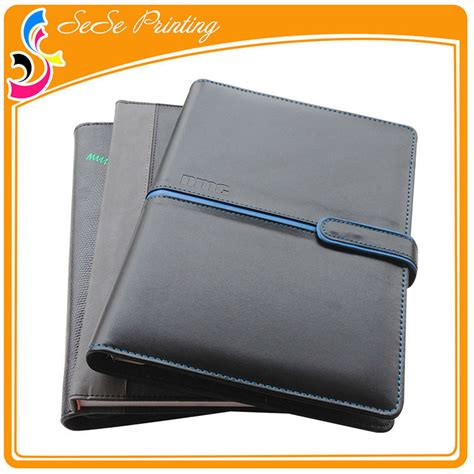 best organizer 2017 company logo printed leather cover agenda diary with