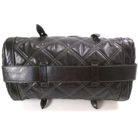 Marc Quilted Leather Bowler by Marc Leather Quilted Emily Bowler Black 19639