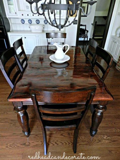 Refinished Kitchen Tables Diy Refinished Dining Table Can Decorate