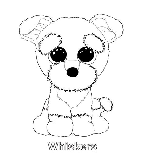 whiskers sanaas coloring pinterest beanie boos ty
