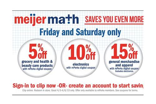 meijer 40 off apparel coupon