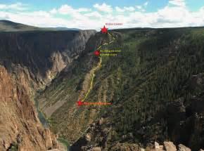 Black Faucet descending into the black canyon of the gunnison