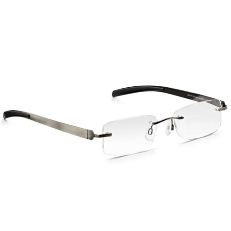buy read optics mens gunmetal flat stainless steel rimless