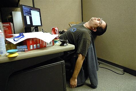 position au bureau a hangover learn how to at work bit